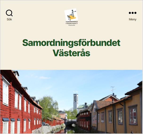 Samordningsförbundet Västerås hemsida
